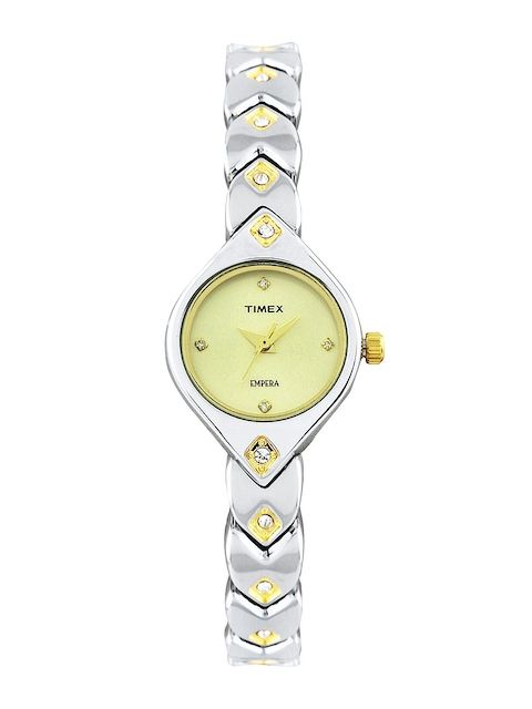Timex Empera Women Gold Toned Dial Watch