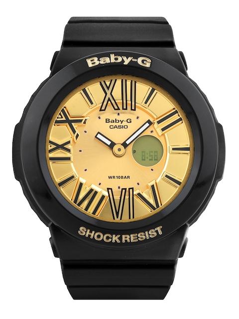 CASIO Baby-G Women Gold-Toned Dial Analogue & Digital Watch B143