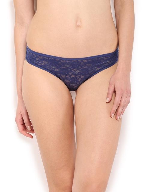 Amante Women Blue Lace Briefs PCFR21