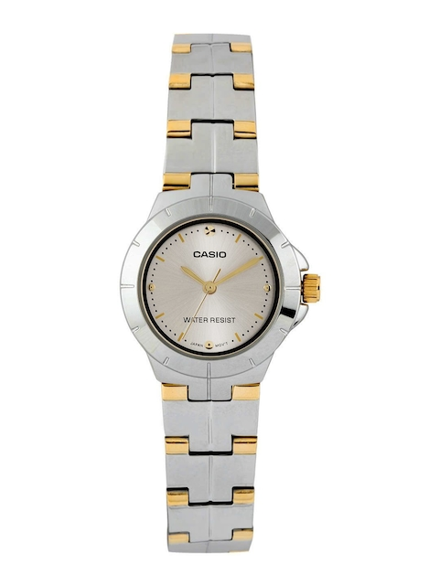 Casio Enticer Women Silver-Gold Analogue Watches (A907) LTP-1242SG-7CDF  available at myntra for Rs.2065