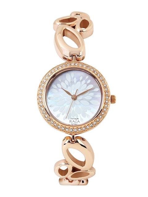 Titan Raga Garden of Eden Women Pearly White Dial Watch 2539WM01