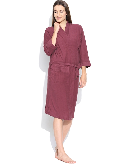 Sand Dune Burgundy Bathrobe