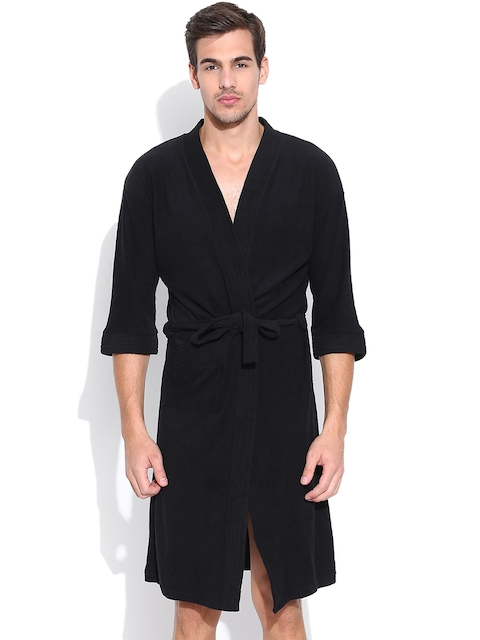 Sand Dune Black Bathrobe