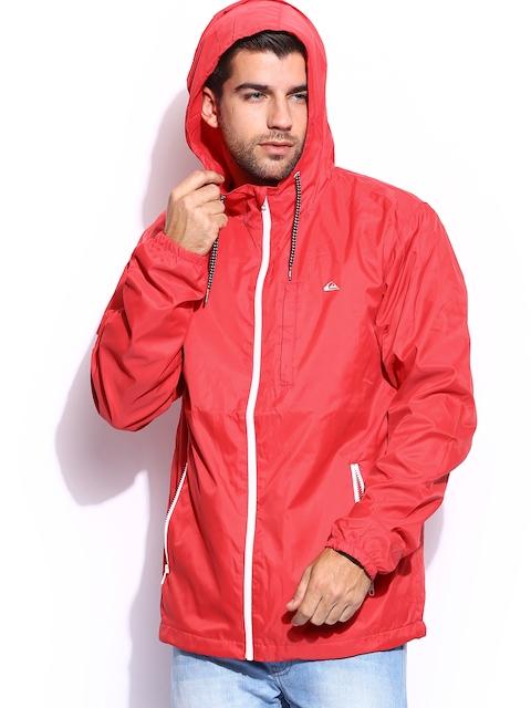 Quiksilver Men Red Hooded Boyd Jacket
