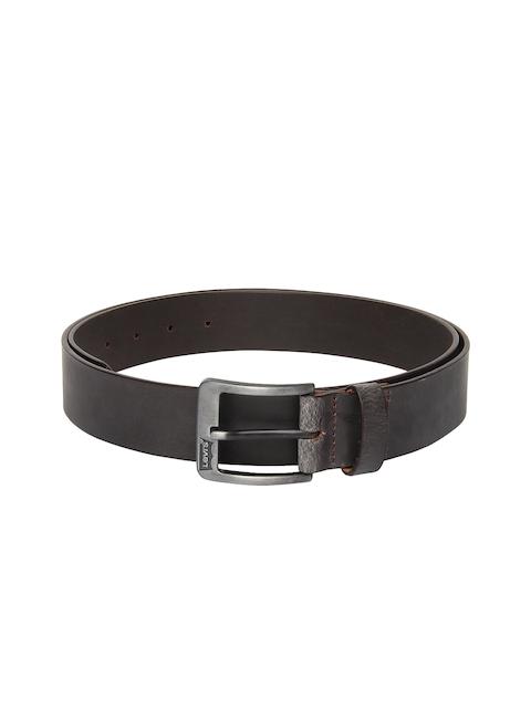 Levis Men Dark Brown Leather Belt