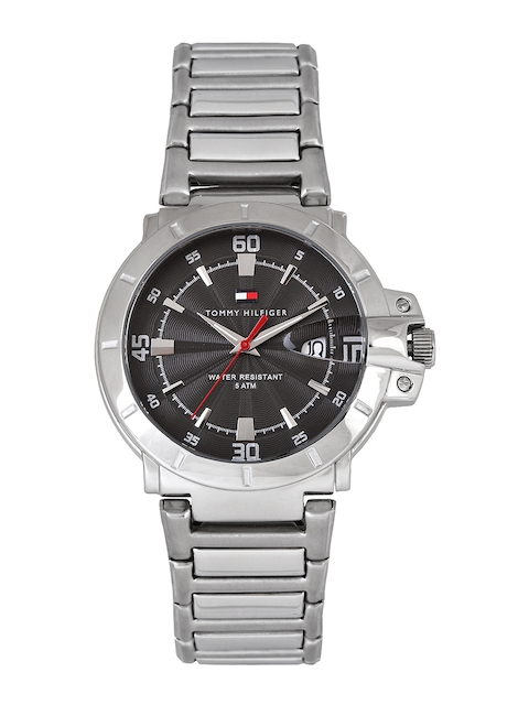 Tommy Hilfiger Men Gunmetal-Toned Dial Watch NTH1790469J