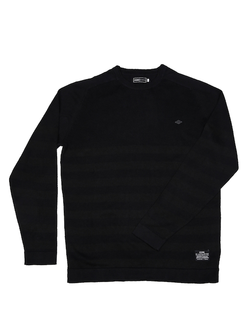 Jack & Jones Black Striped Sweater