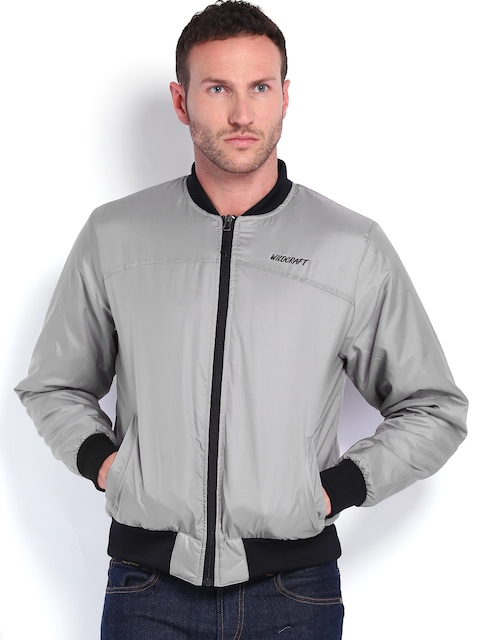 Wildcraft Men Grey Bomber Jacket