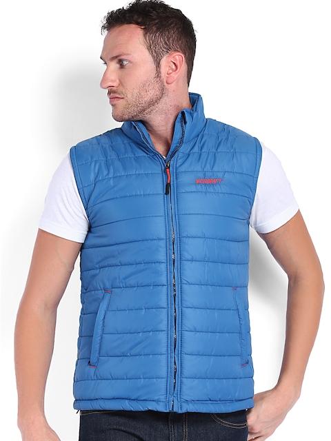 Wildcraft Men Blue Sleeveless Padded Jacket