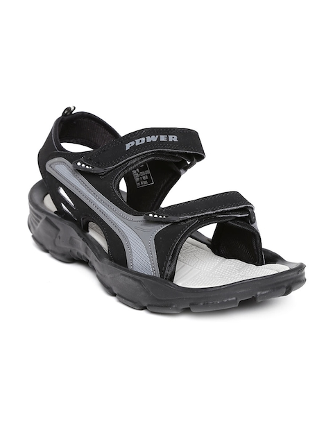 Power by Bata Men Black Stricker Sports Sandals  available at myntra for Rs.399