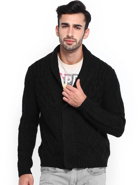Calvin Klein Jeans Men Black Woollen Cardigan