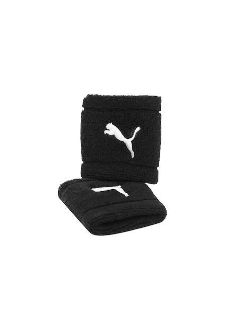 Puma Unisex Pack of 2 Black Wristbands