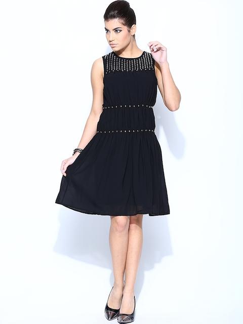 Vero Moda by Karan Johar Black A-Line Dress