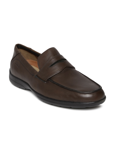 Clarks Men Coffee Brown Leather Formal Shoes