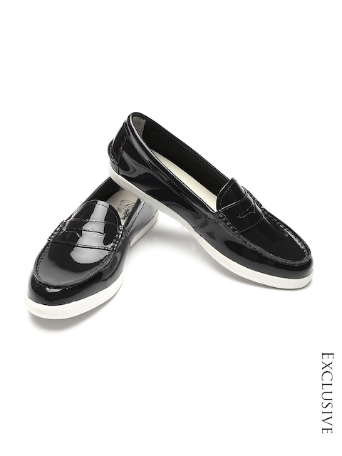 Cole Haan Women Black Patent Leather Loafers