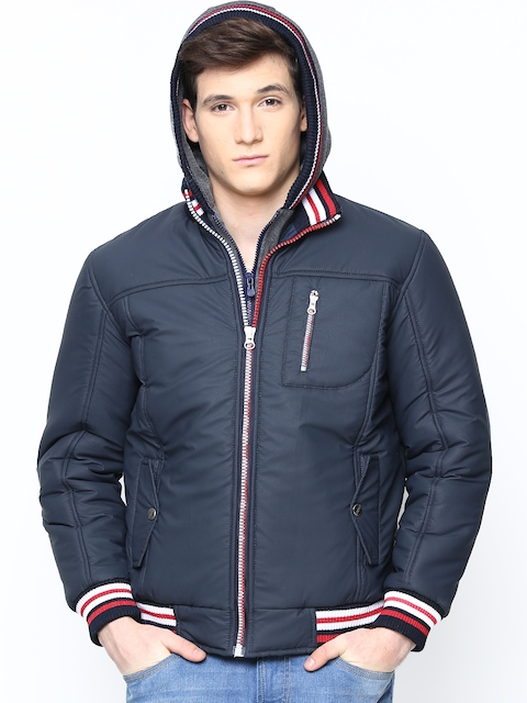 Fort Collins Men Navy Jacket with Detachable Hood