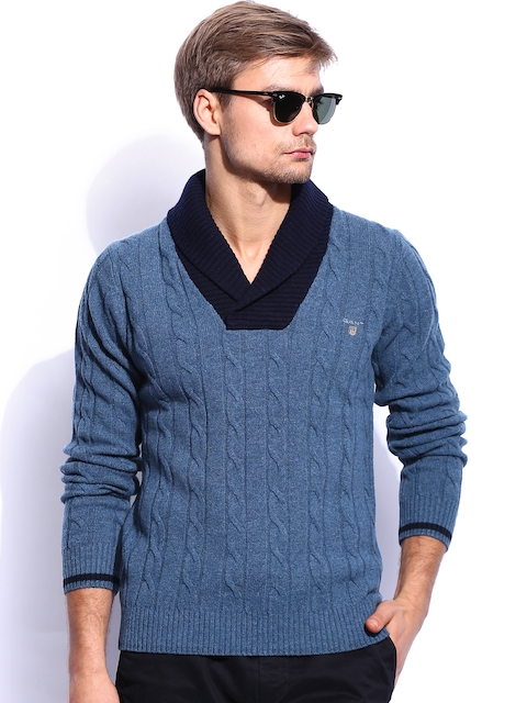 GANT Men Blue Woollen Sweater
