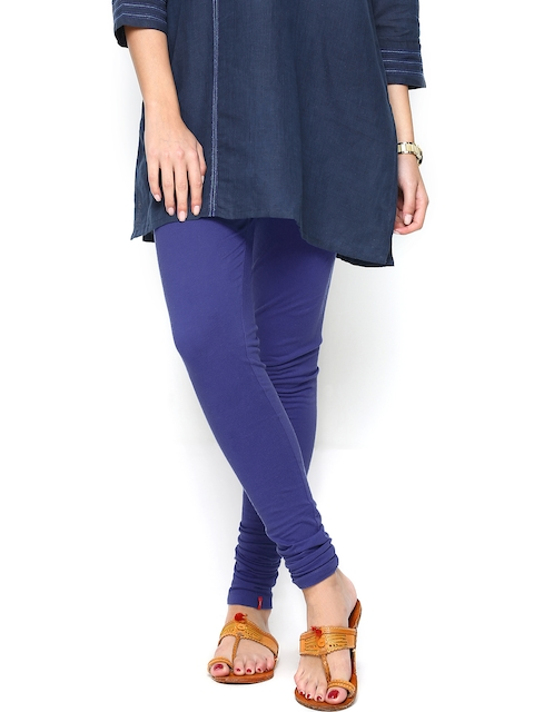 W Women Blue Churidar Leggings  available at myntra for Rs.359