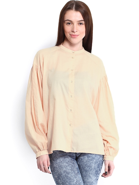 Calvin Klein Jeans Women Peach-Coloured Shirt