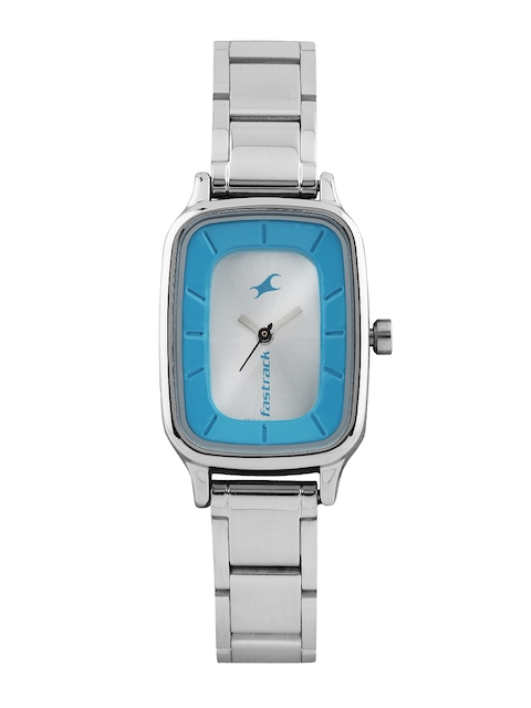 Fastrack Women Silver-Toned Dial Watch 6121SM01