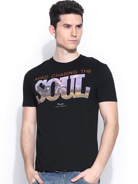 Wrangler Men Black Printed T-shirt