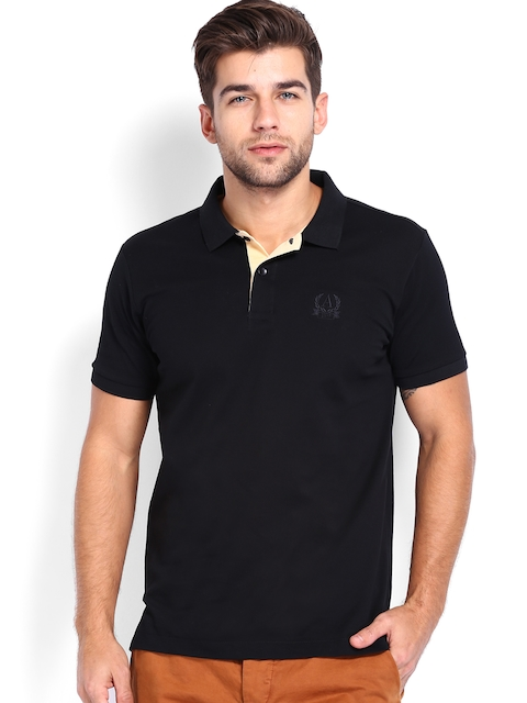 Arrow Men Black Polo T-shirt