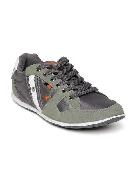 Sparx Men Olive Green & Grey Casual Shoes