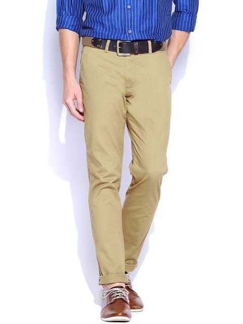 IZOD Men Brown Slim Fit Trousers