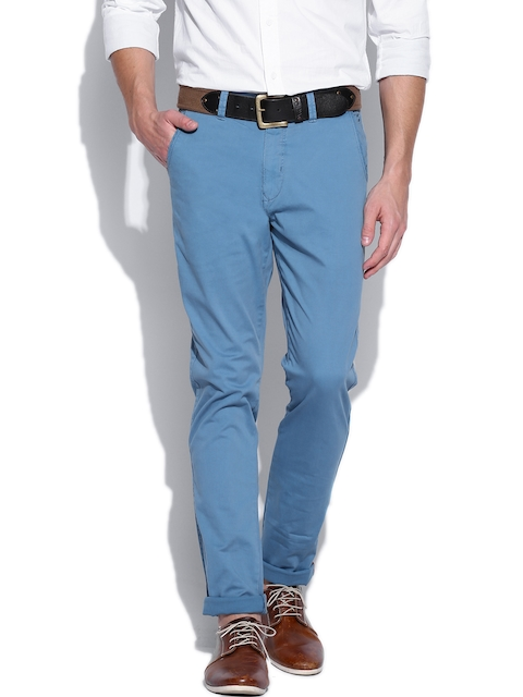 IZOD Men Blue Slim Fit Trousers