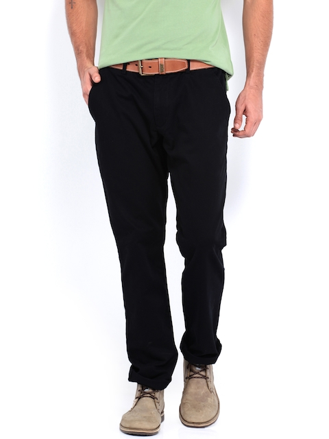 French Connection Men Black Trousers