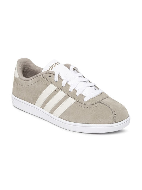 Adidas NEO Men Beige Suede VLCOURT Casual Shoes