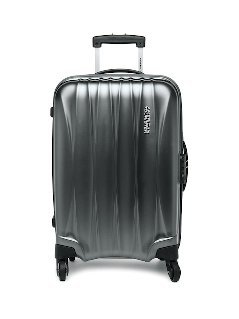 American Tourister Unisex Gunmetal-Toned Arona Small Trolley Suitcase