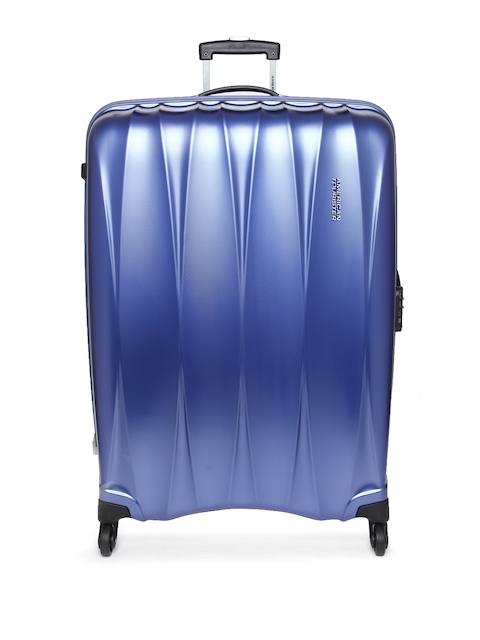 AMERICAN TOURISTER Unisex Blue Arona Large Trolley Suitcase