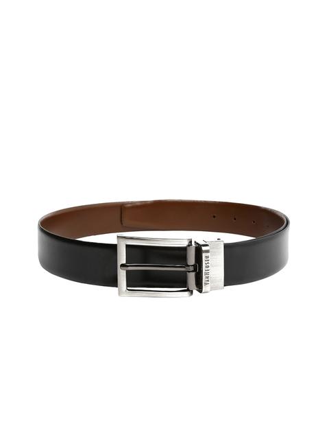 Van Heusen Men Black & Brown Reversible Leather Belt