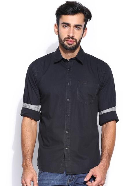 Wrangler Men Black Casual Shirt