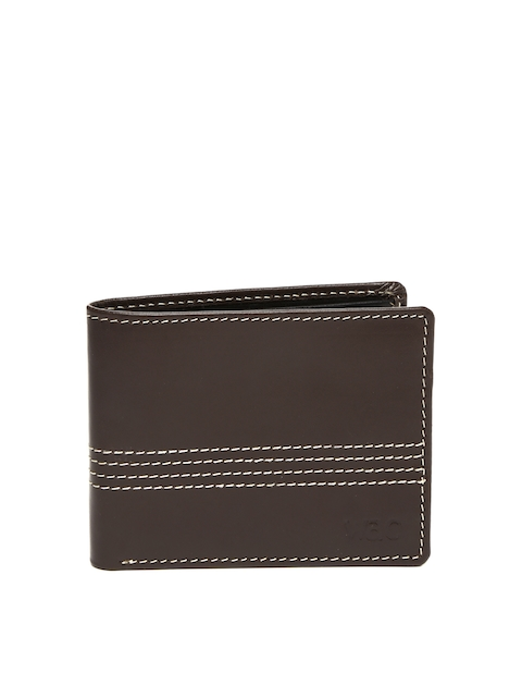 WAC by Wrangler Men Brown Leather Wallet  available at myntra for Rs.672