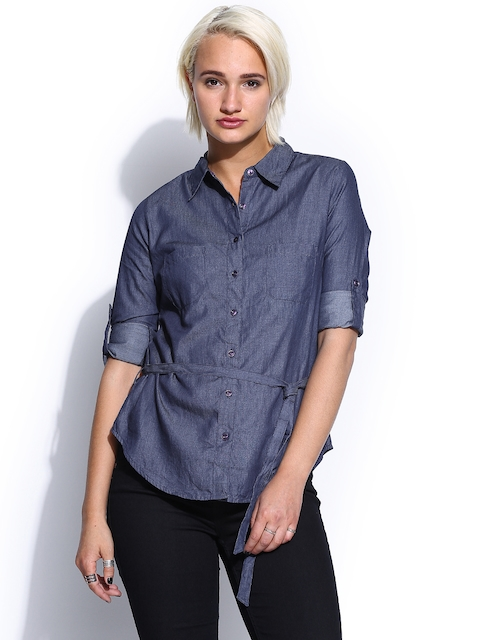 a7256d07e388 U.S. Polo Assn. Women Blue Chambray Tunic