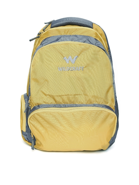 Wiki by Wildcraft Unisex Mustard Yellow & Grey Backpack