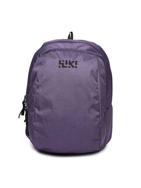 Wiki by Wildcraft Unisex Purple Endo Printed Backpack
