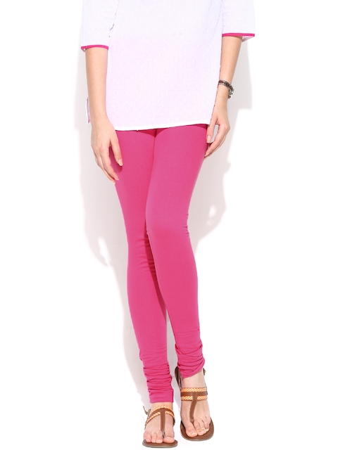 W Women Pink Churidar Leggings  available at myntra for Rs.389