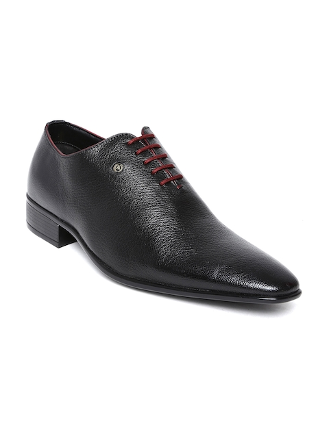 Alberto Torresi Men Black Leather Formal Shoes