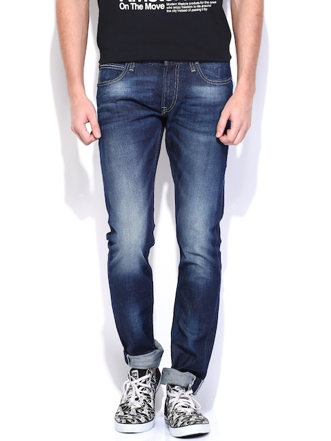 Lee Men Blue Bruce Skinny Fit Stretchable Jeans