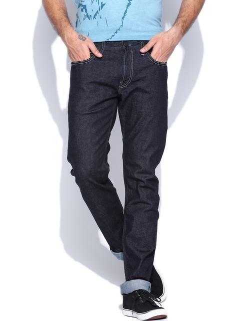 Lee Men Blue Bruce Skinny Fit Stretchable Jeans