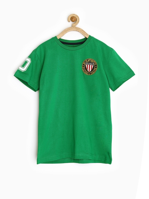 Gini and Jony by Gini & Jony Boys Green T-shirt
