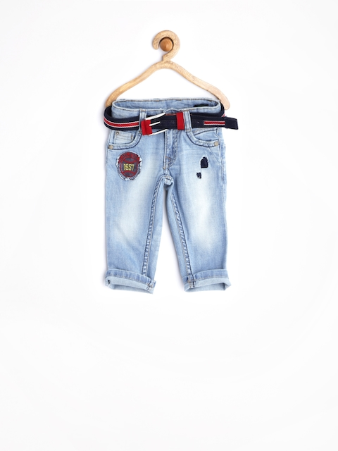United Colors of Benetton Boys Light Blue Stretch Jeans