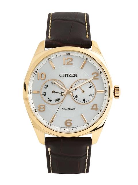 Citizen Men White Dial Eco-Drive Watch AO9024-08A