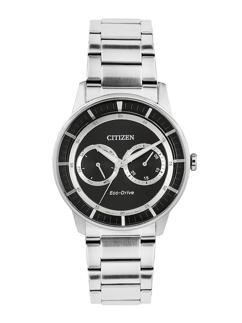 Citizen Men Black Dial Eco-Drive Watch BU4000-50E