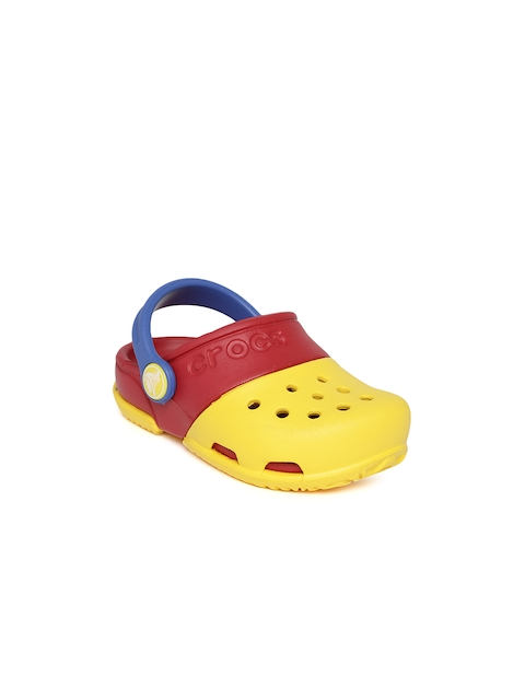 Crocs Kids Yellow & Red Clogs