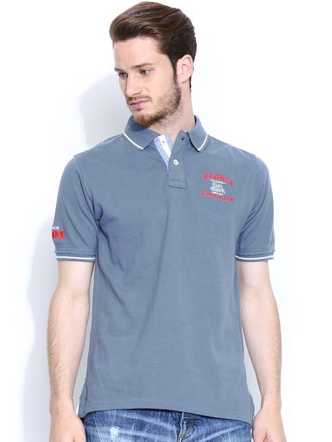 CAT Greyish Blue Polo T-shirt