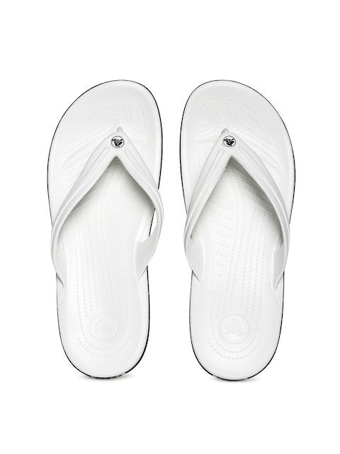 Crocs Unisex White Flip-Flops